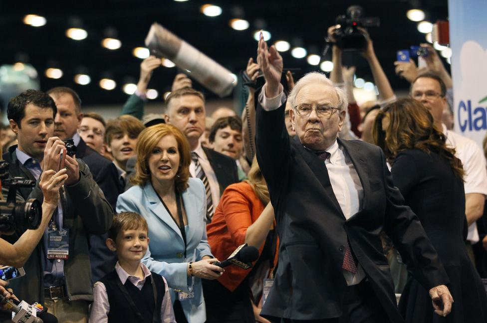 15: Berkshire Hathaway CEO Warren Buffett.  REUTERS/Rick Wilking
