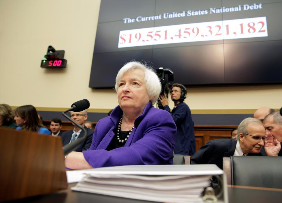"Federal Reserve Chairman Yellen prepares to deliver the semi-annual testimony on the ""Federal Reserve's Supervision and Regulation of the Financial System"" before the House Financial Services Committee in Washington"