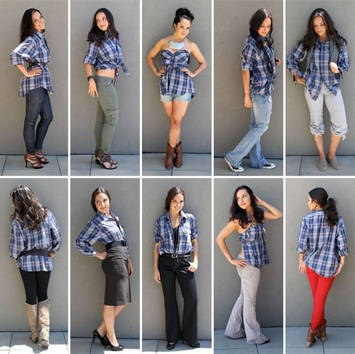 Как модно одеть рубашку