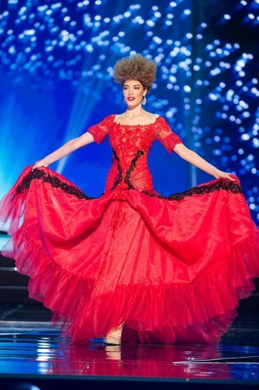 Lindita Idrizi, Miss Albania 2016 debuts her National Costume on stage at the Mall of Asia Arena on Thursday, January 26, 2017.  The contestants have been touring, filming, rehearsing and preparing to compete for the Miss Universe crown in the Philippines.  Tune in to the FOX telecast at 7:00 PM ET live/PT tape-delayed on Sunday, January 29, live from the Philippines to see who will become Miss Universe. HO/The Miss Universe Organization