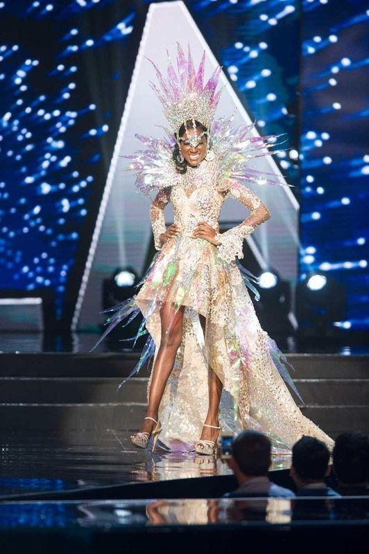Luisa Baptista, Miss Angola 2016 debuts her National Costume on stage at the Mall of Asia Arena on Thursday, January 26, 2017.  The contestants have been touring, filming, rehearsing and preparing to compete for the Miss Universe crown in the Philippines.  Tune in to the FOX telecast at 7:00 PM ET live/PT tape-delayed on Sunday, January 29, live from the Philippines to see who will become Miss Universe. HO/The Miss Universe Organization