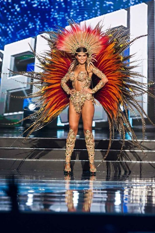 Estefania Bernal, Miss Argentina 2016 debuts her National Costume on stage at the Mall of Asia Arena on Thursday, January 26, 2017.  The contestants have been touring, filming, rehearsing and preparing to compete for the Miss Universe crown in the Philippines.  Tune in to the FOX telecast at 7:00 PM ET live/PT tape-delayed on Sunday, January 29, live from the Philippines to see who will become Miss Universe. HO/The Miss Universe Organization