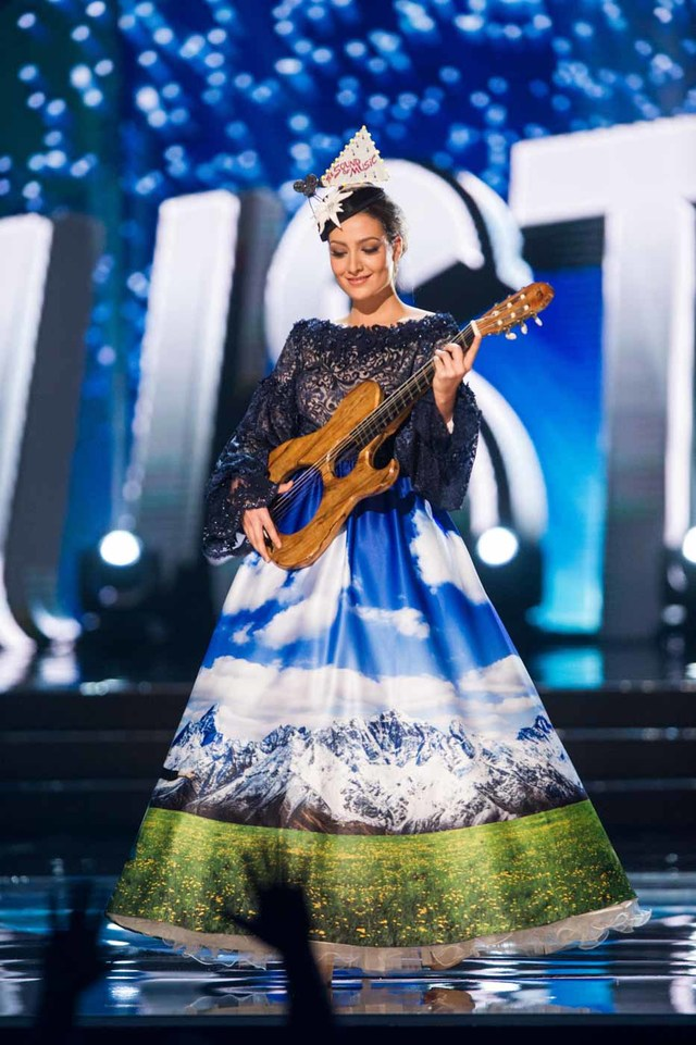 Dajana Dzinic, Miss Austria 2016 debuts her National Costume on stage at the Mall of Asia Arena on Thursday, January 26, 2017.  The contestants have been touring, filming, rehearsing and preparing to compete for the Miss Universe crown in the Philippines.  Tune in to the FOX telecast at 7:00 PM ET live/PT tape-delayed on Sunday, January 29, live from the Philippines to see who will become Miss Universe. HO/The Miss Universe Organization