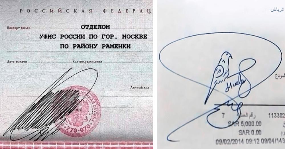 Как сделать красивую подпись в паспорте Оттуда может