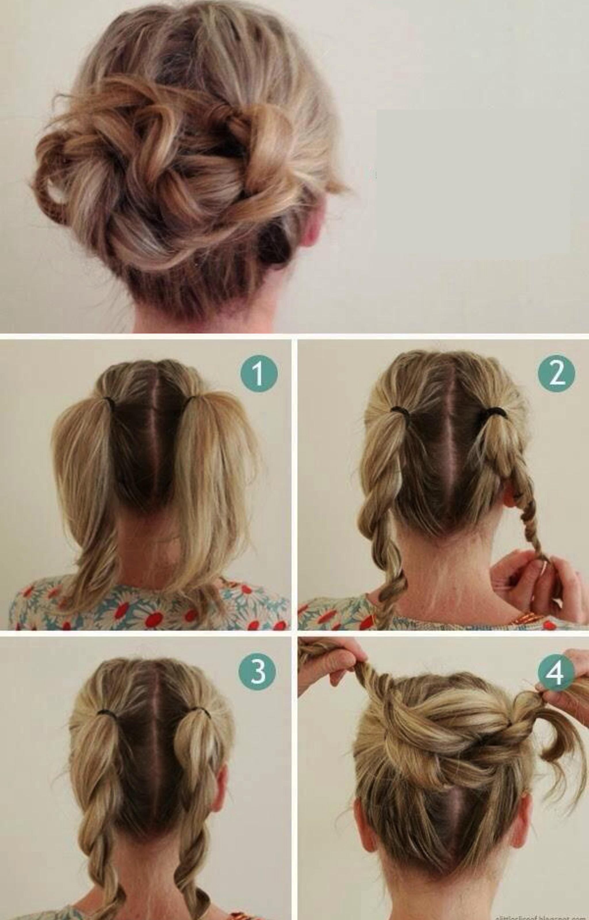 Как сделать причёску с помощью бублика на длинные волосы